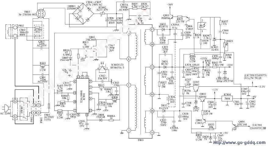TCL图纸AT2965王牌开关电源彩电封包机机械电路八方图片