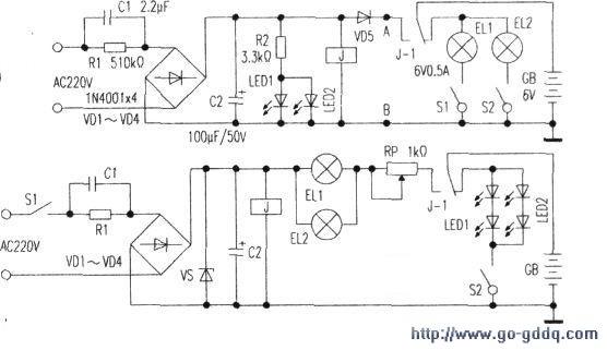 一款应急灯的工作原理及改进方法