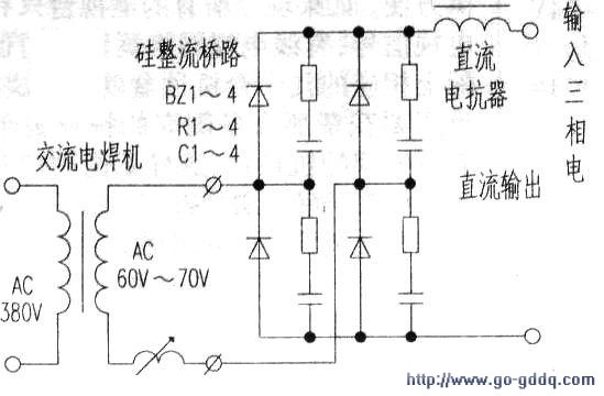 如何把交流电焊机改直流电焊机图片