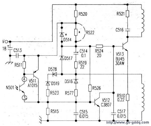 东菱TC2528B彩电开关电源电路原理图图片
