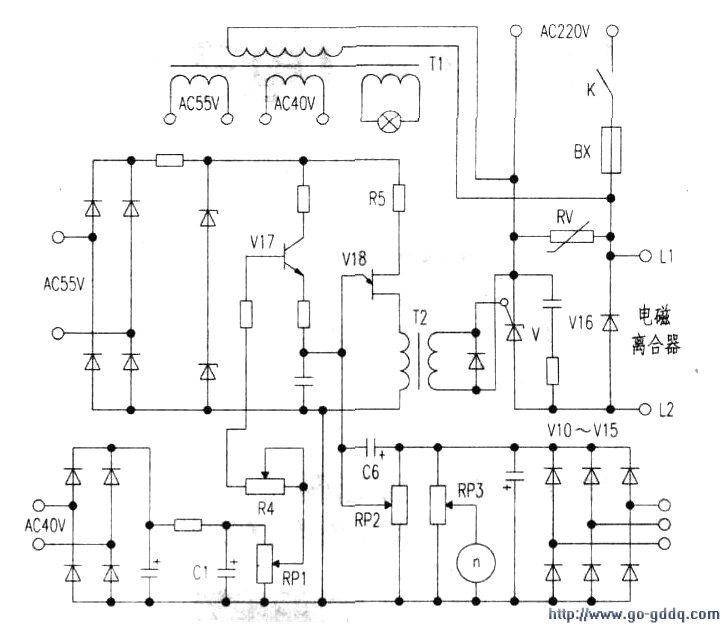 电磁调速电动机ZTK1控制电路图片