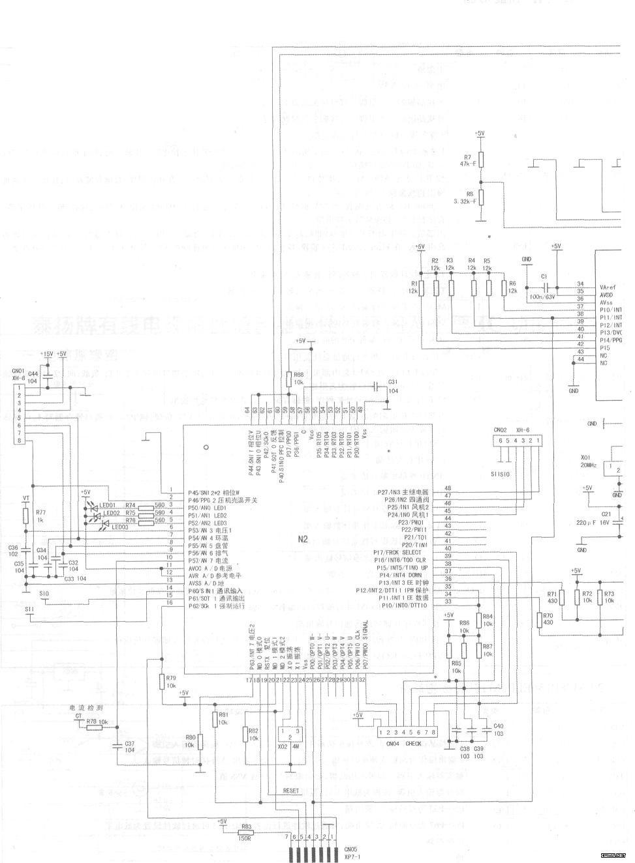 海信1.5p直流变频空调室外机控制电路