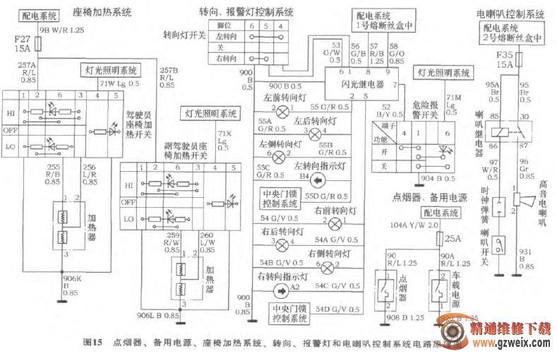 长城腾翼c30汽车全车电路(1)