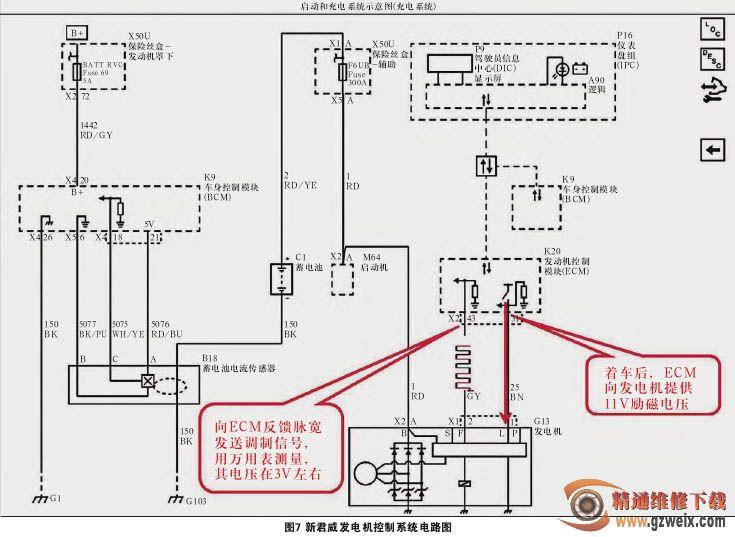 分析及检修别克车系发电机控制系统图片