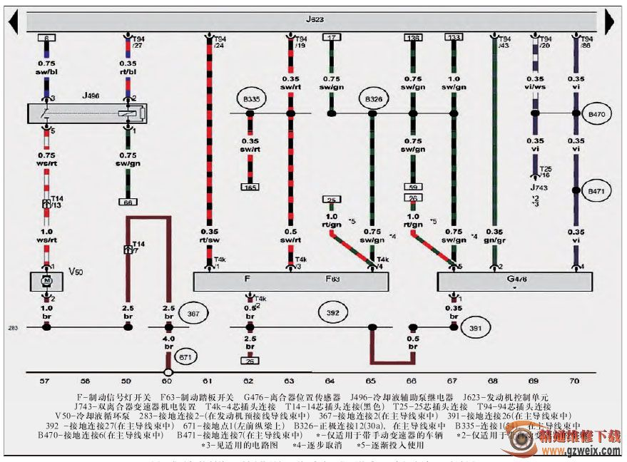 1 1.4 L汽油发动机 CAXA CNVA CNUA 电路图 一图片