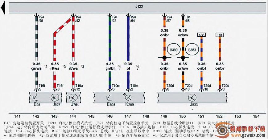 1 1.4 L汽油发动机 CAXA CNVA CNUA 电路图 二图片