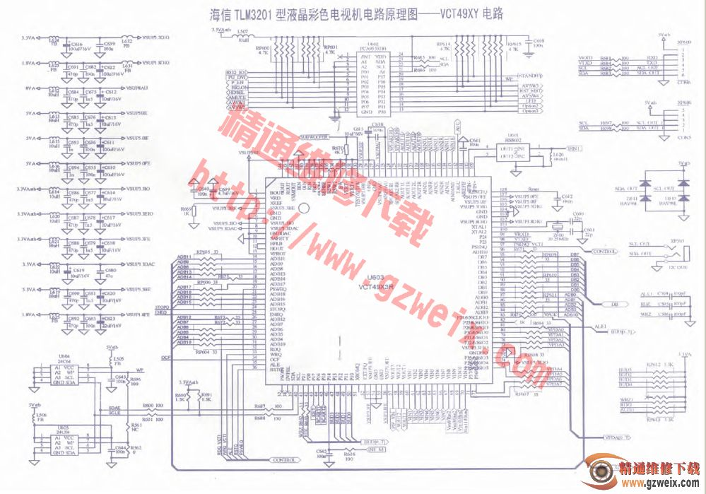 海信tlm3201型液晶彩色電視機電路原理圖--vct49xy