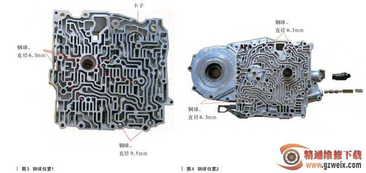 图解沃尔沃4t65e自动变速器阀体图片图片
