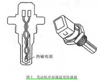 冷却液温度传感器的基本电路如图   所示.