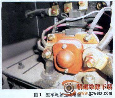 传统的客车主电源电路中的149号线由仪表台上翘板总电源开关或点高清图片