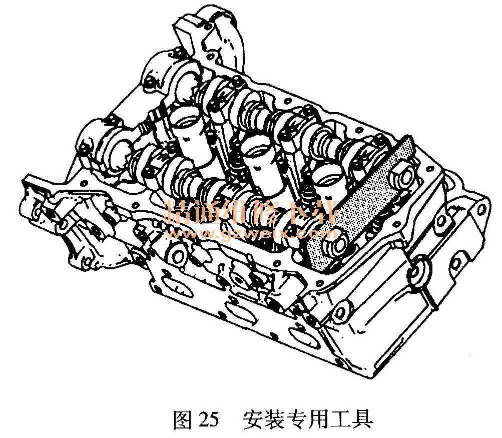 凯迪拉克赛威 sls 3.6l发动机正时校对方法 高清图片