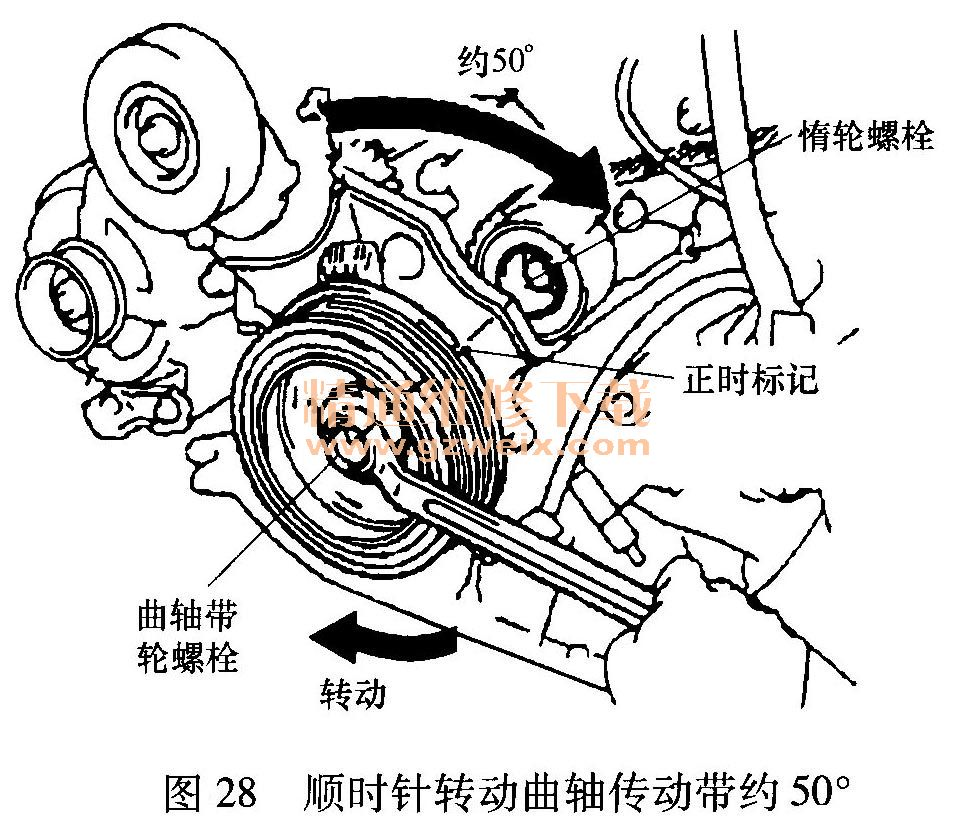 雷克萨斯gs430 4.3l(3uz-fe)发动机正时校对方法