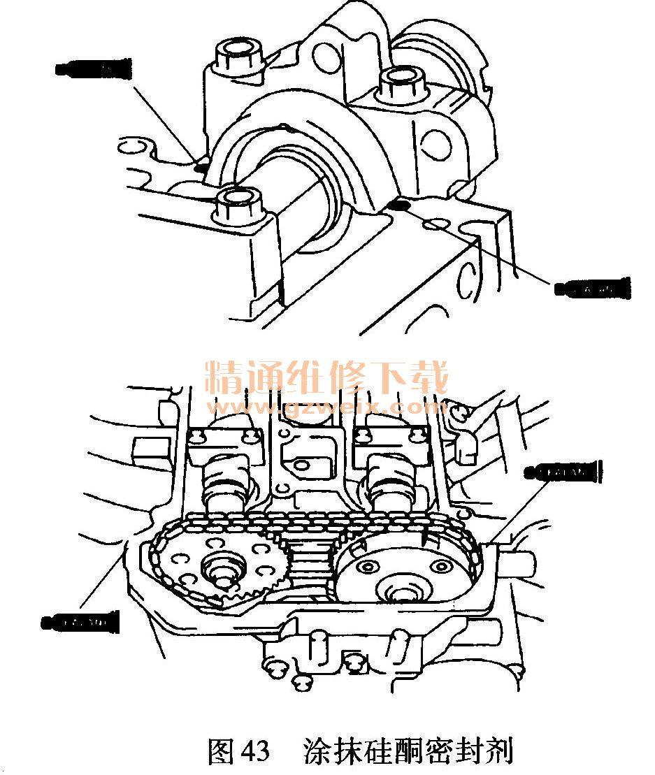 马自达(mazda)cx-7 2.3t发动机正时校对方法
