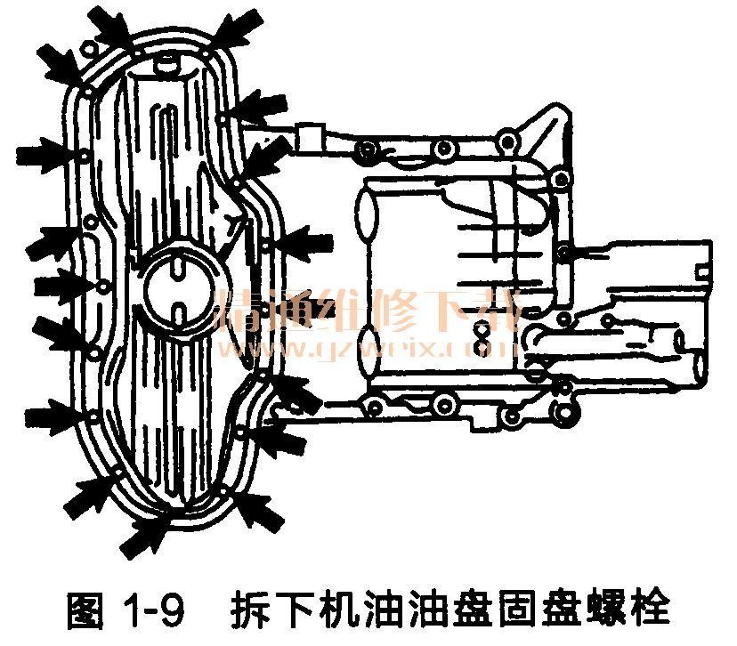 丰田锐志/皇冠发动机正时链条的拆卸