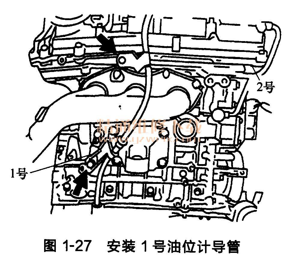 丰田锐志/皇冠发动机正时链条的安装