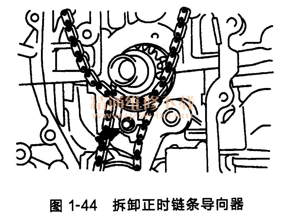 丰田凯美瑞发动机正时链条的拆卸