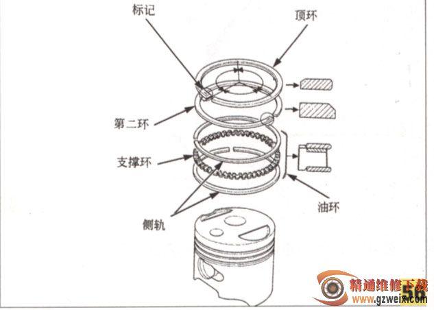 活塞环安装图_拆装及维修轻骑小踏板139发动机(一) - 精通维修下载