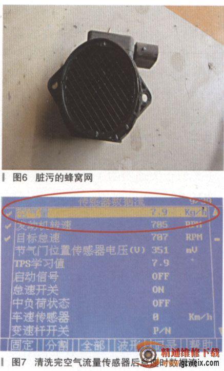 然后使用压缩空气吹干.将空气流量传感器及空气滤清器等高清图片