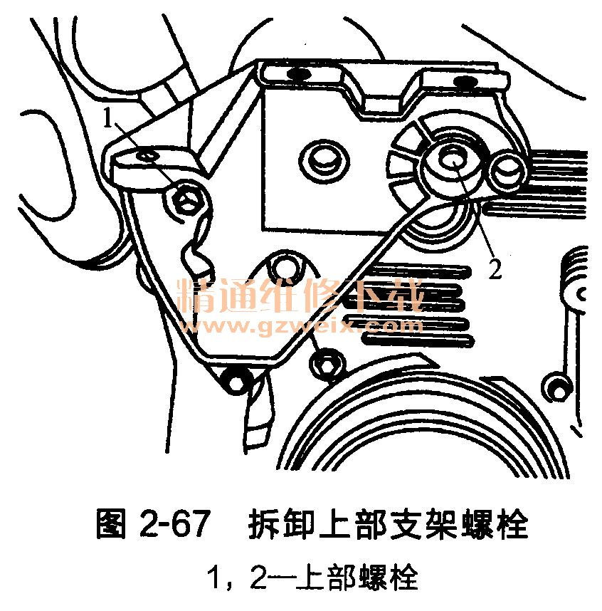 大众开迪1. 6L发动机正时传动带的拆卸
