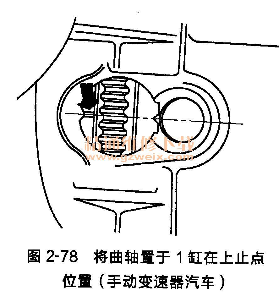 大众桑塔纳发动机(ayj型)正时齿形传动带的安装