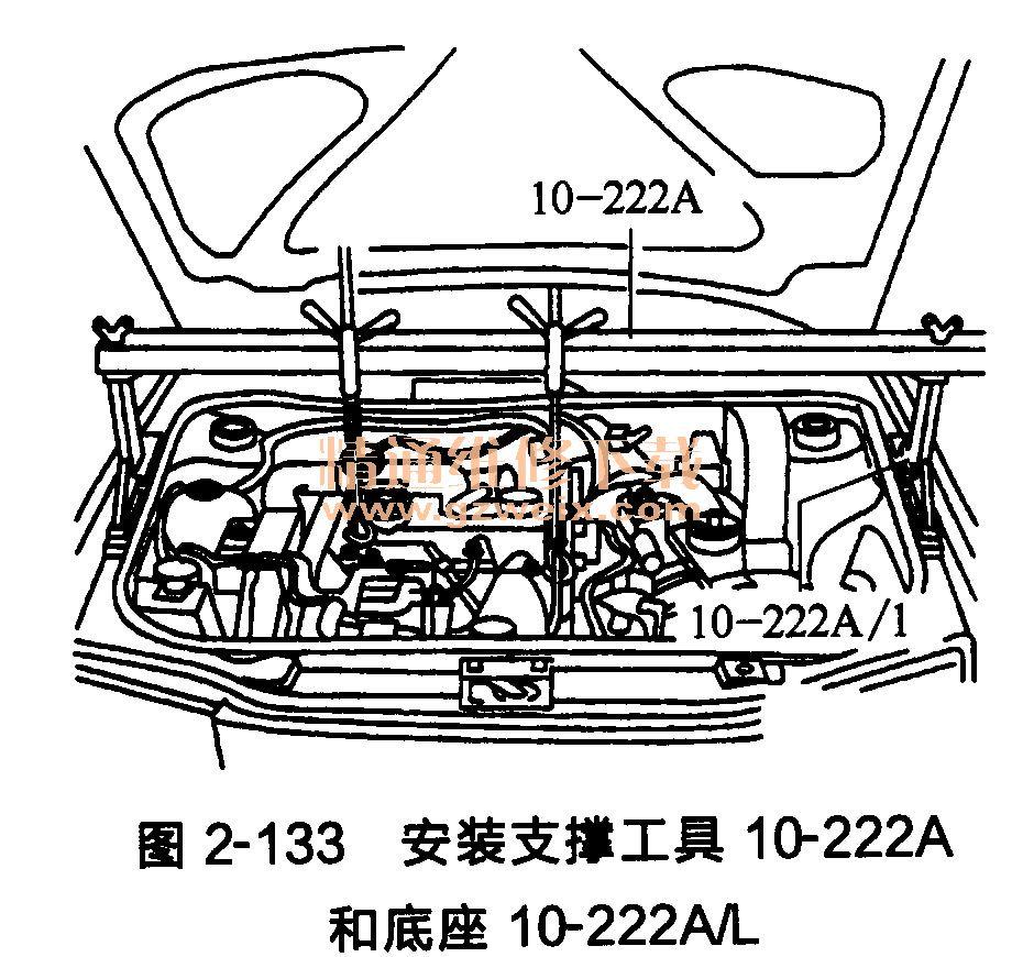 大众途安发动机正时齿形传动带的拆卸
