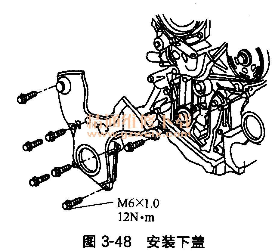 2008款本田雅阁发动机正时传动带的安装