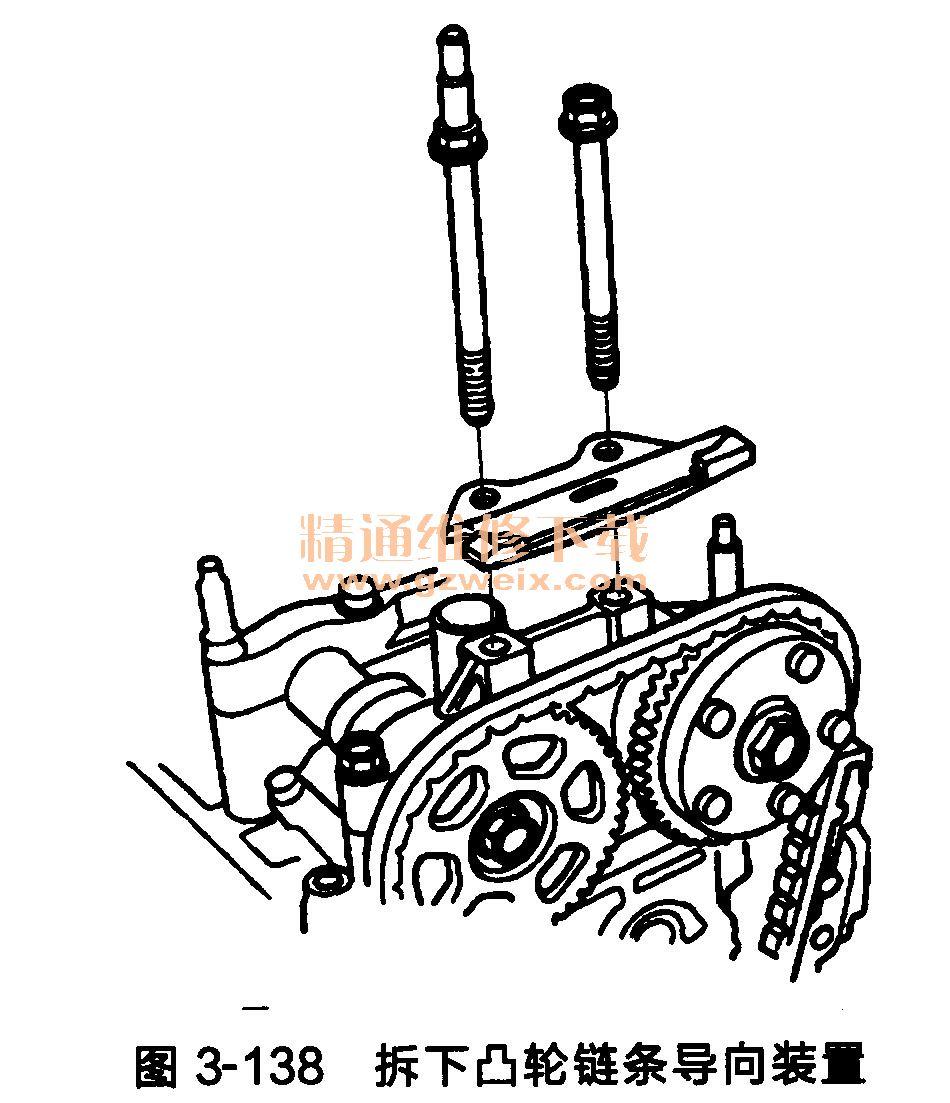 本田思铂睿发动机(k24z3型)正时链条的拆卸方法图片