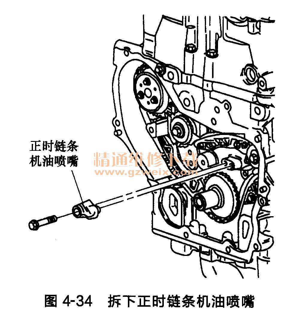 别克君威2. 0l发动机(ldk)正时链条的拆卸方法