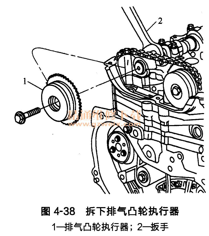 别克君威2. 0l发动机(ltd型)正时链条的拆卸方法