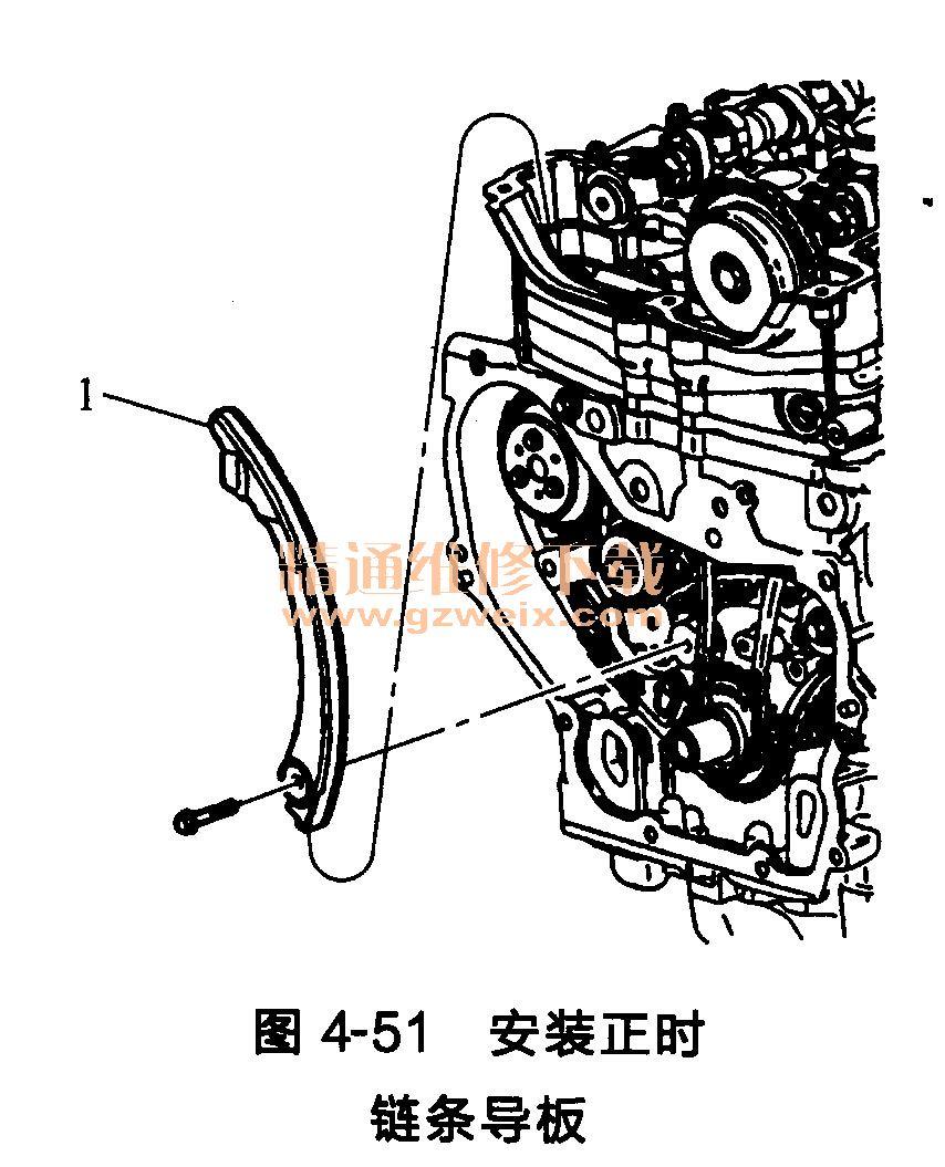 别克君威发动机正时链条的安装方法高清图片