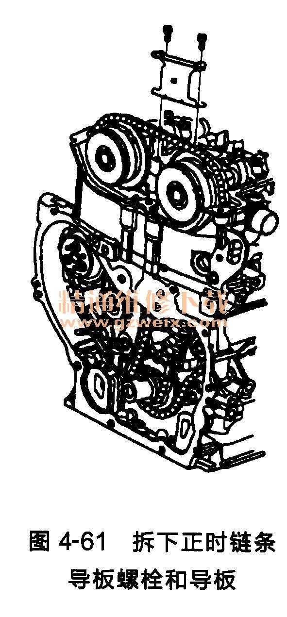 4l发动机(lat/lef型)正时链条的拆卸方法