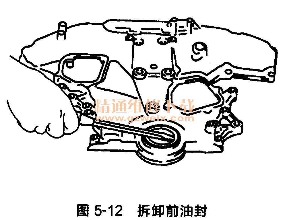 日产天籁发动机正时链条的拆卸