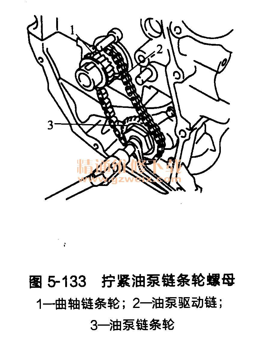 日产颐达/骐达发动机正时链条的安装