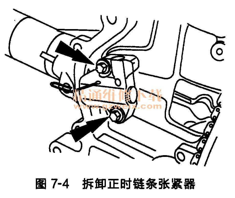 福特福克斯发动机正时链条的拆卸