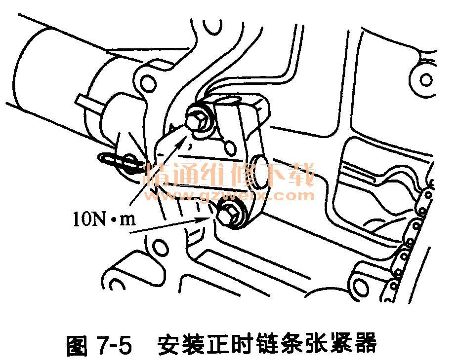 福特福克斯发动机正时链条的安装 精通维修下 高清图片