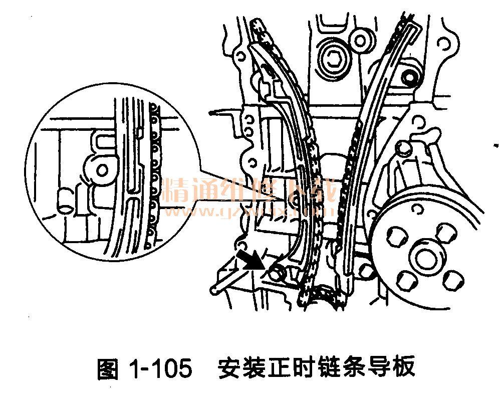 凯美瑞发动机(3az-fxe型)正时链条的安装