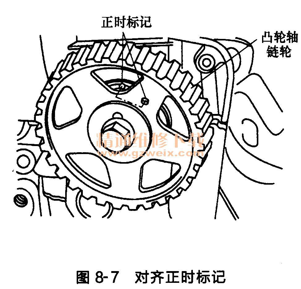 现代雅绅特g4 ed 发动机正时传动带部件的 拆卸 高清图片