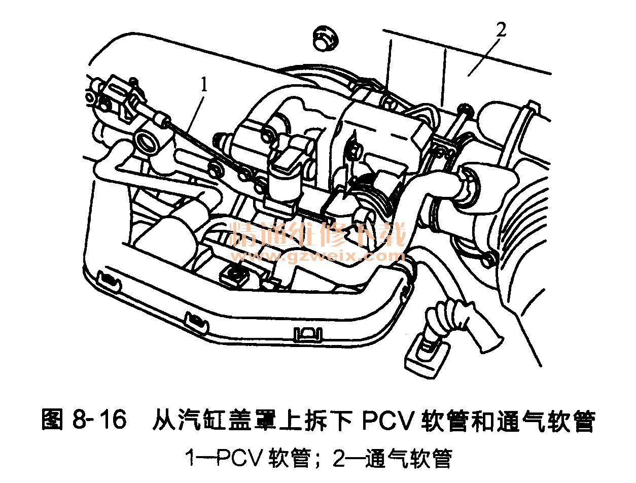 现代雅绅特发动机 g4ed型 正时链条的安装 高清图片