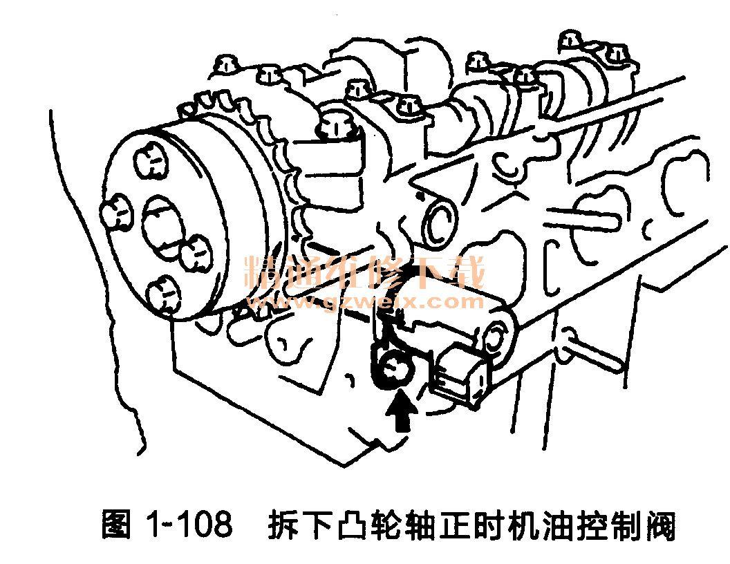 丰田雅力士发动机(2nz-fe型)正时链条拆卸方法