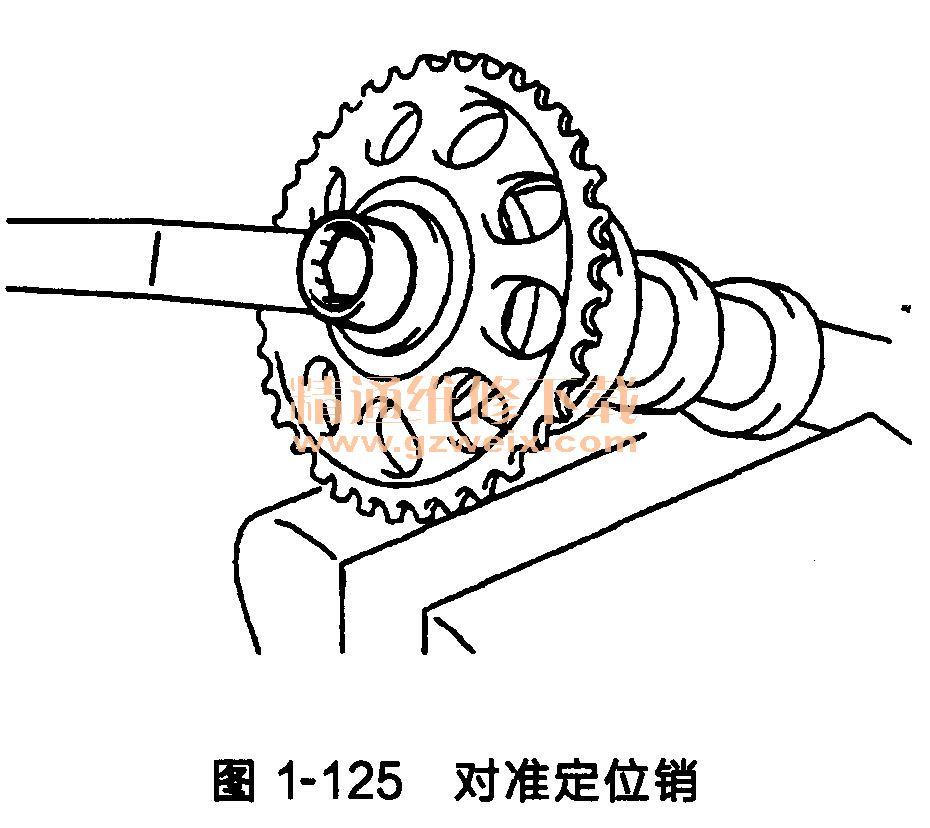 丰田雅力士发动机(2hz-fe型)正时链条的安装方法