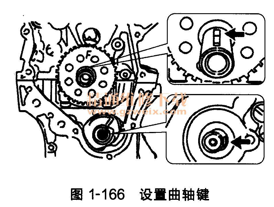 丰田雅力士发动机(1zr-fe型/4zr-fe型)正时链条的安装方法