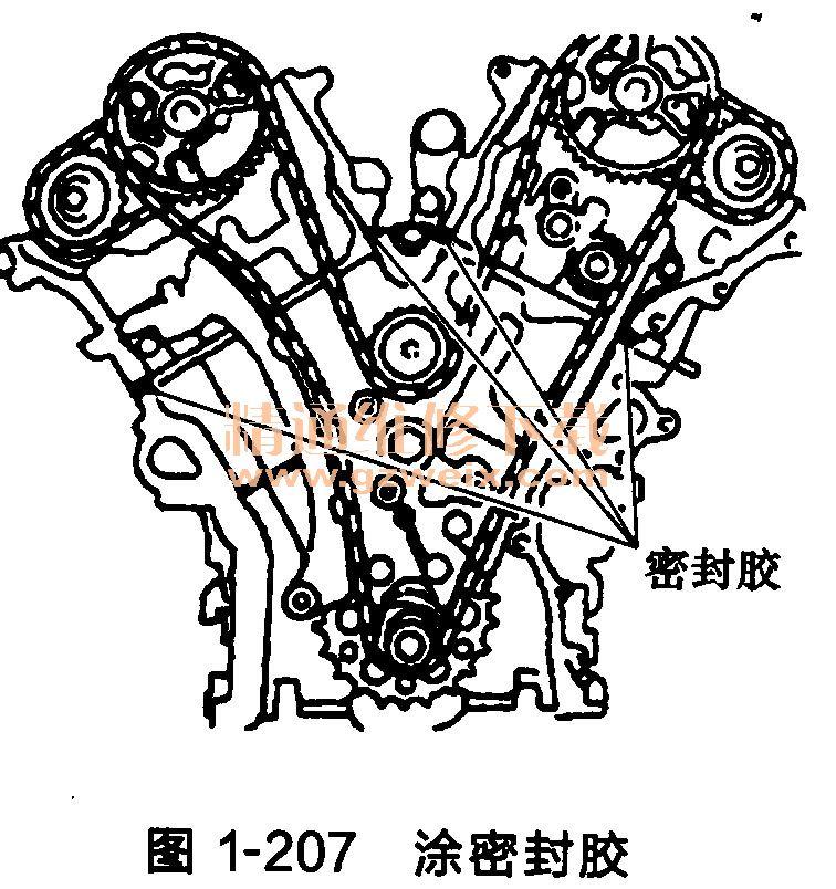 丰田酷路泽发动机(igr-fe型)正时链条安装方法