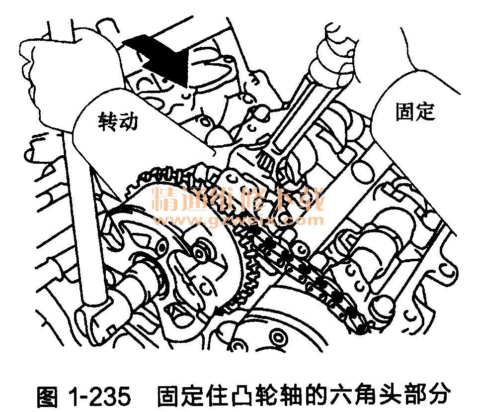 丰田汉兰达发动机正时链条安装方法高清图片