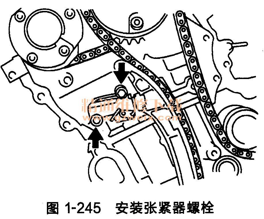 丰田汉兰达发动机正时链条安装方法