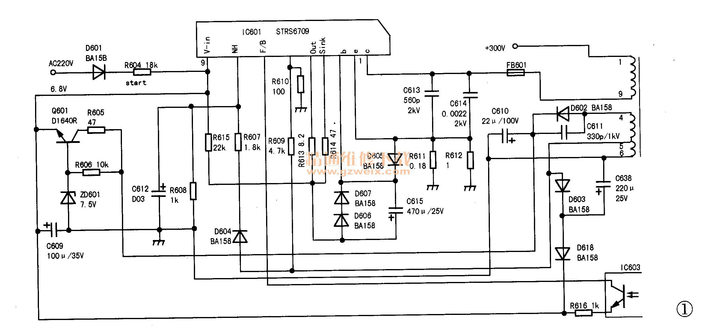 创维29nl9000(5t20)型彩电不开机