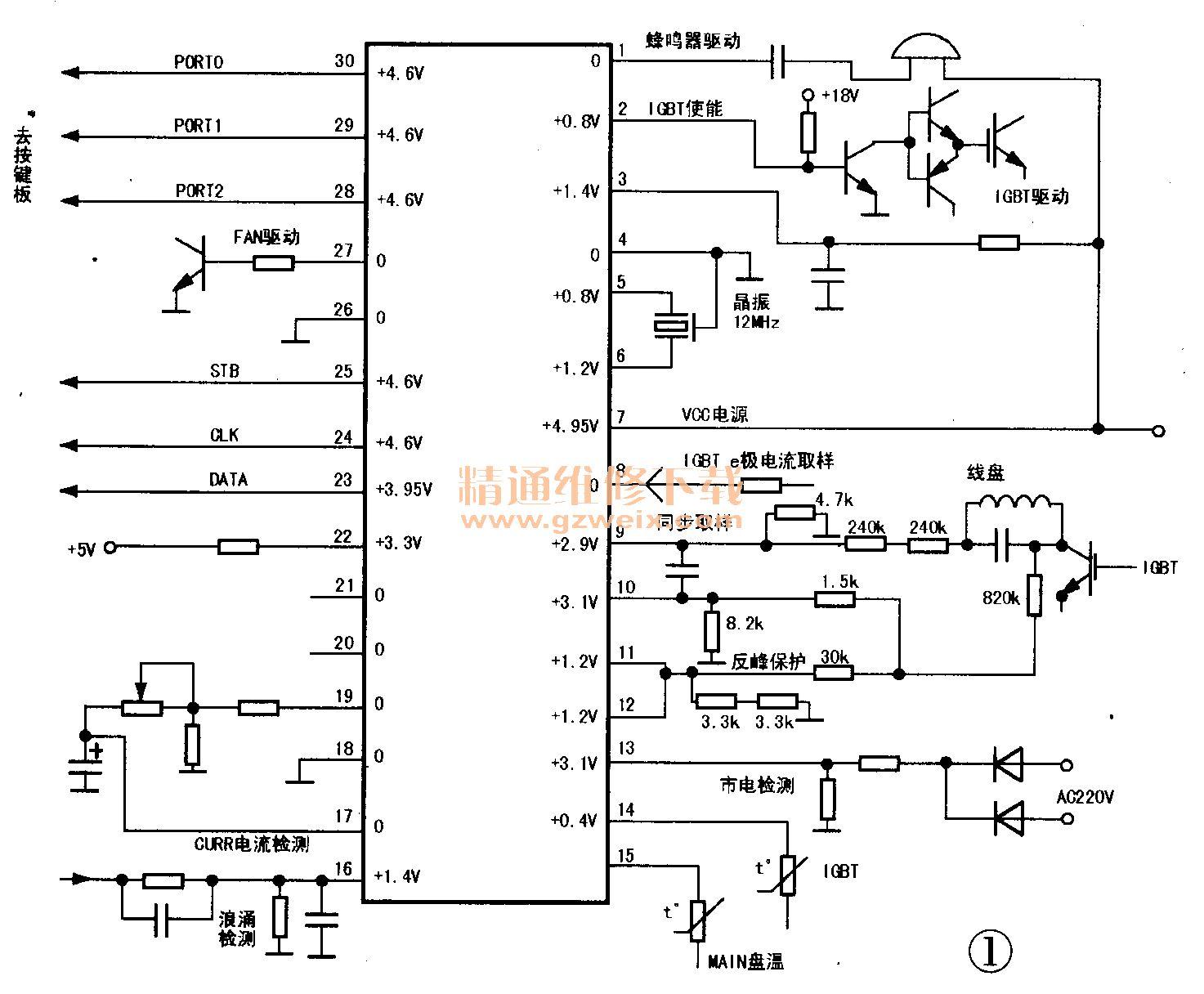 sk2105电路图_美的SK2111型电磁炉不通电故障 - 精通维修下载