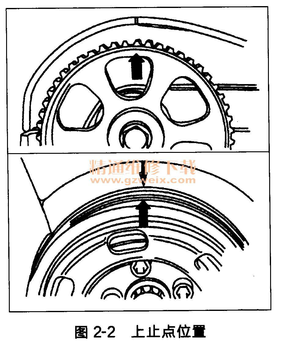 奥迪a6 4缸发动机正时传动带拆卸方法高清图片