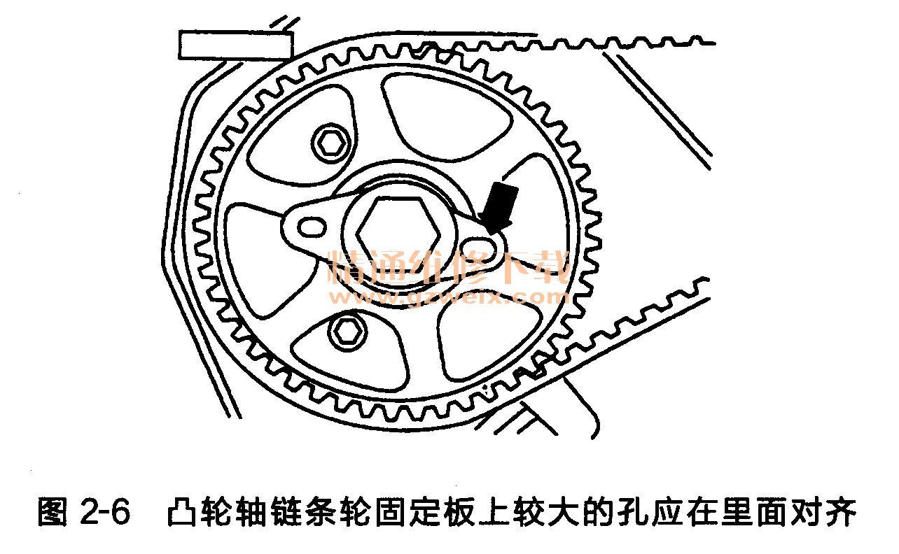 奥迪a6 6缸发动机正时传动带拆卸方法高清图片