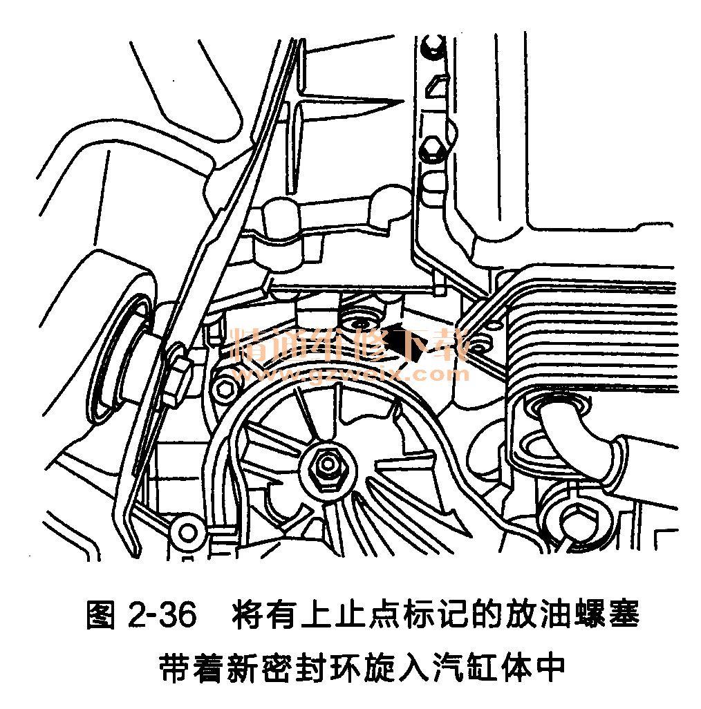奥迪a6l发动机正时链条安装方法