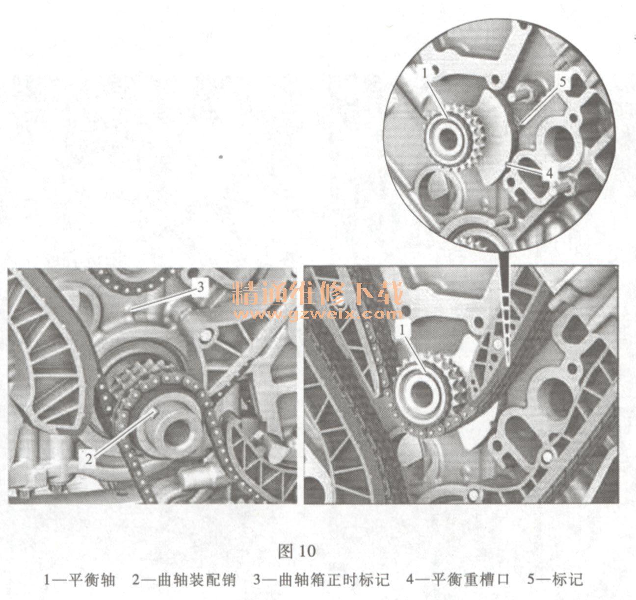 奔驰ml350(3. 5 l 272)发动机正时校对方法